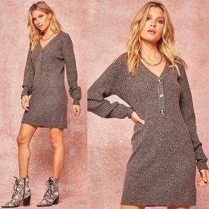 A Change Of Pace Knit Sweater Dress